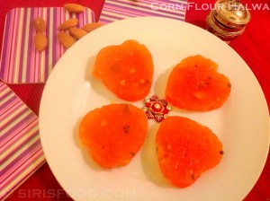 Corn Flour Halwa in Microwave Oven | Festive Sweets Recipes
