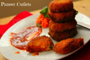 Paneer Vegetable Cutlet | Indian Cottage Cheese Cutlets