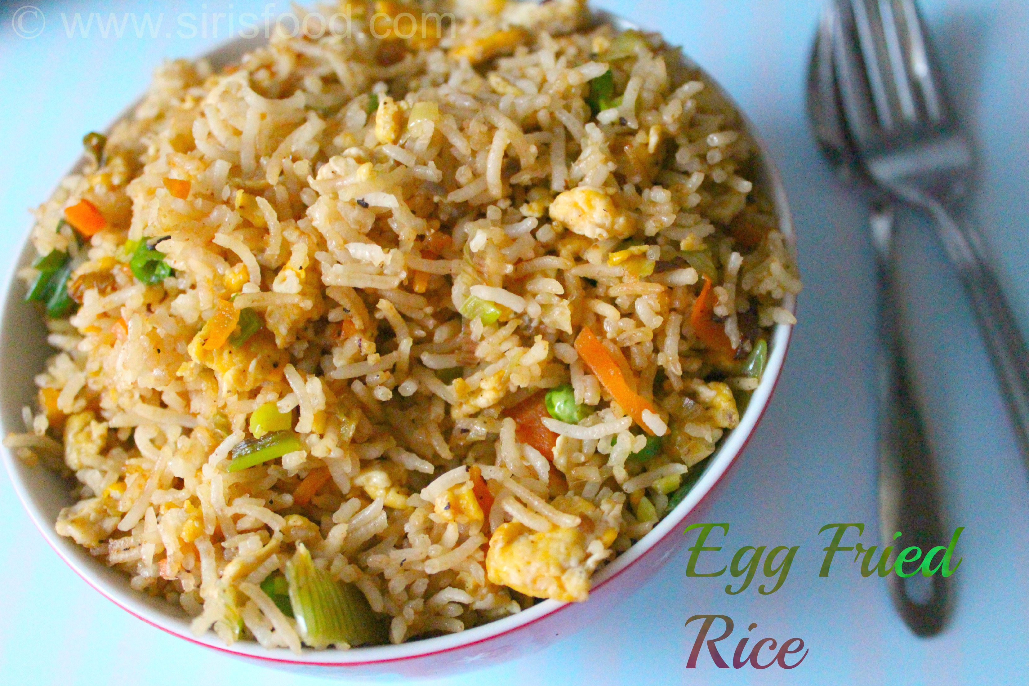 Egg Fried Rice Indo Chinese indo - chinese egg fried rice recipe