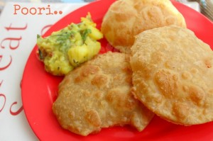 Poori Recipe | How to Make Puffed Poori (with video) | Indian Breakfast Recipes