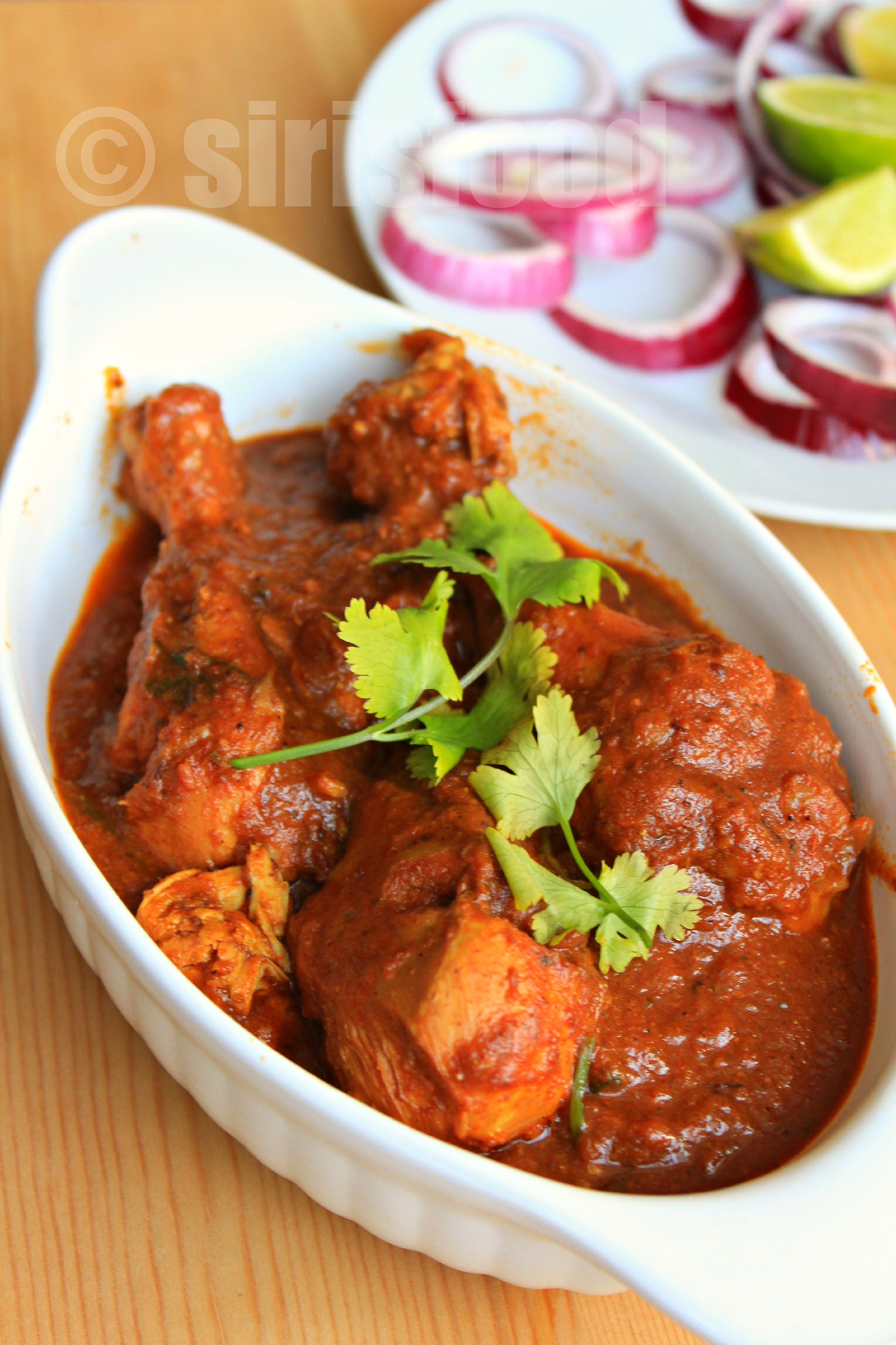 Kolhapuri Chicken Curry Indian Chicken Recipes Sirisfood