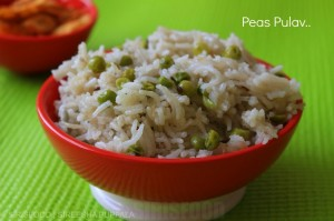 Peas Pulav | Green Peas Rice | Bachelor Cooking Recipes