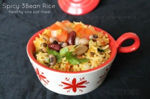 Spiced up Bean Rice | Spicy 3 Bean Rice