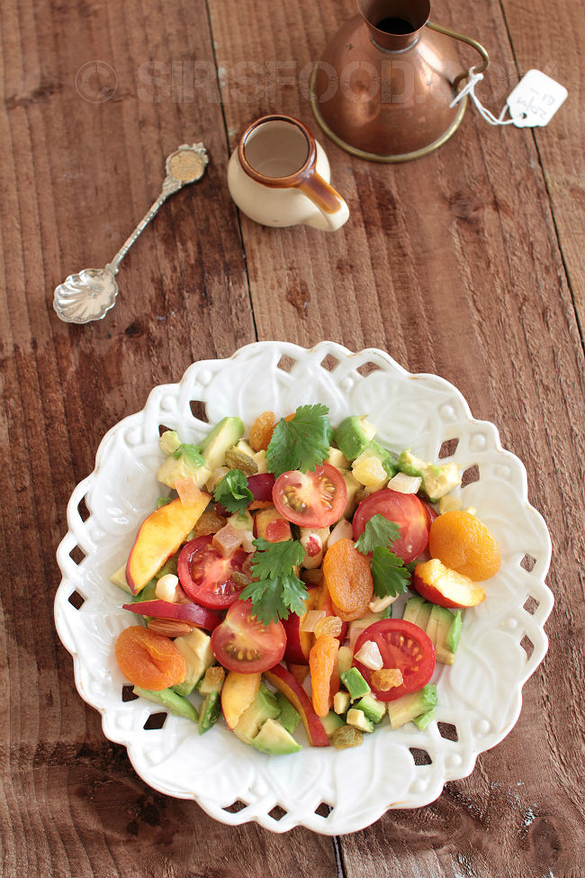 Avocado-Peach-cherry-tomato-Salad