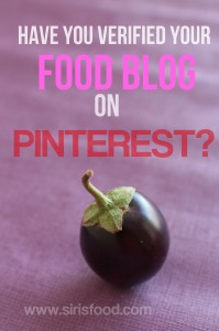 How to Verify your food blog(website) on Pinterest