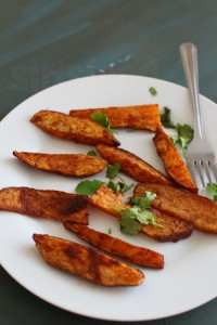 Baked Sweet Potato Wedges Recipe , How to make potato wedges